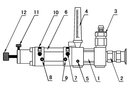 小型定量海霸泵灌装机 结构介绍